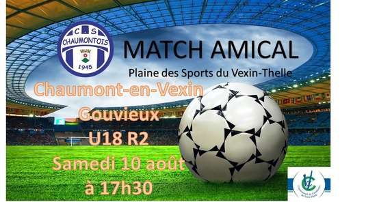 Match Amical u17-u18 Cs Chaumontois (R2) vs Us Gouvieux (R2)
